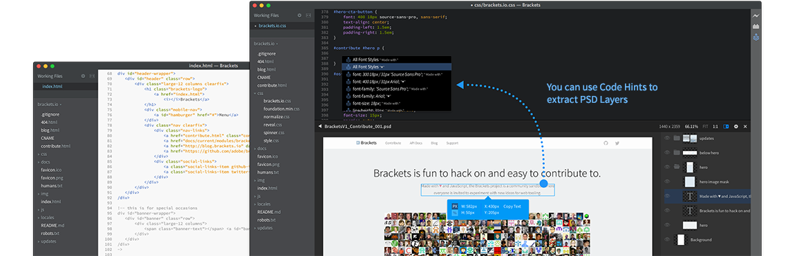 Adobe announces Brackets 1 0 and Extract for Brackets