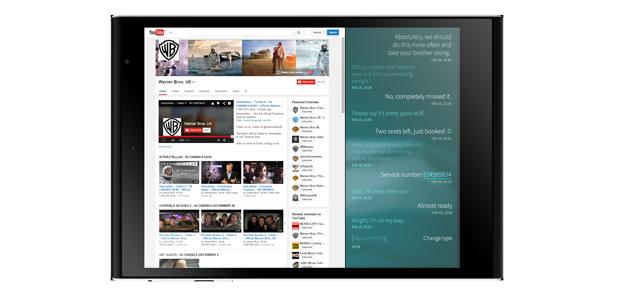 Jolla Tablet split-screen