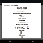 Nexus 7 electronic label FCC ID
