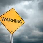 Warning Sign Sky Cloud Cloudy