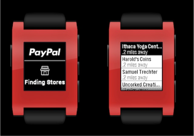 PayPal comes to Pebble so you can pay while tracking perambulatory progress