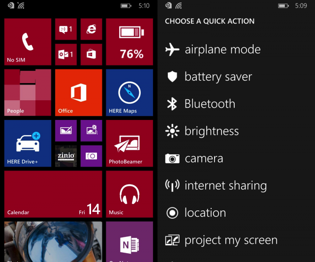 Windows Phone 8.1 Update 1 build 14203