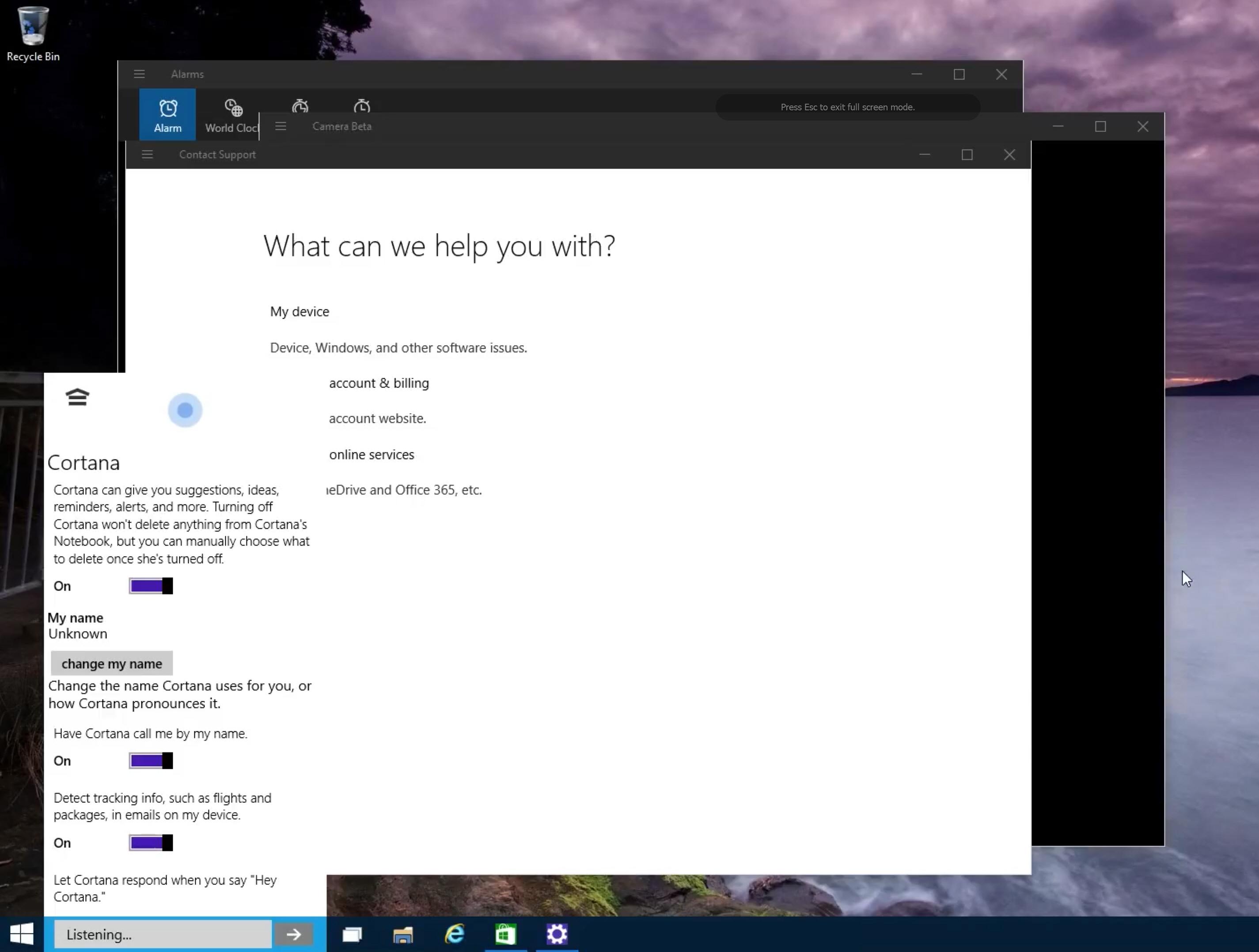 Cortana Call Me Something Different - 9901 leak