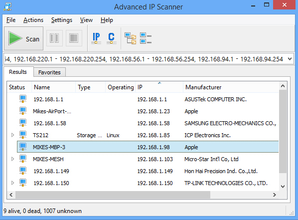 WatFile.com Download Free update for its network detection tool, Advanced IP Scanner 2 4