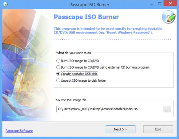 PasscapeISOBurner