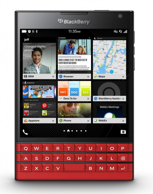 Red BlackBerry Passport