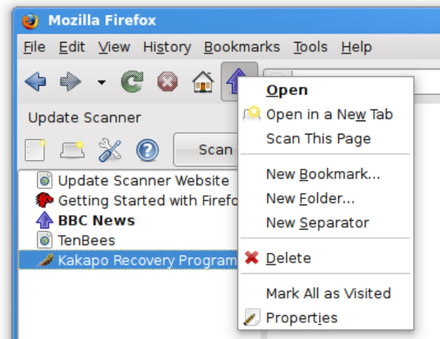 Update Scanner alerts you when web pages change (Firefox