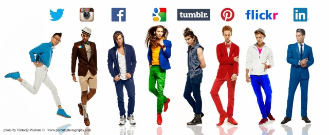 Social networks reimagined as guys -- hipsters, businessmen and kooks