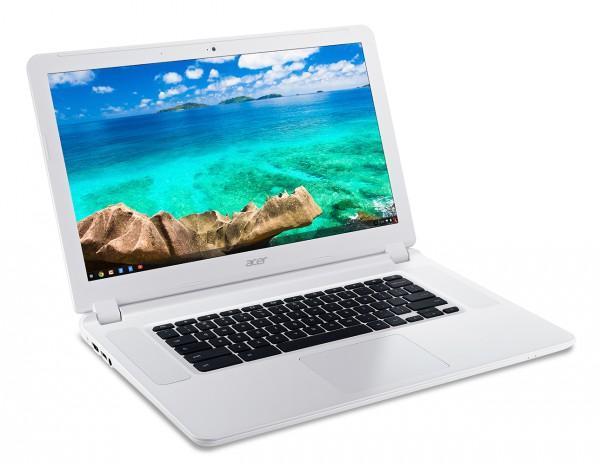 Acer Chromebook 15 (CB5-571) white-front left angle
