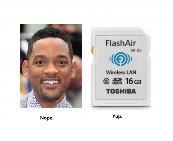 Fresh Prince of Bel-Air? Nope  Toshiba FlashAir III? Yup  Wireless