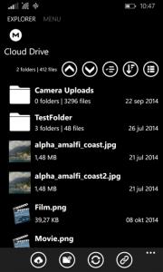 Mega 2 Windows Phone