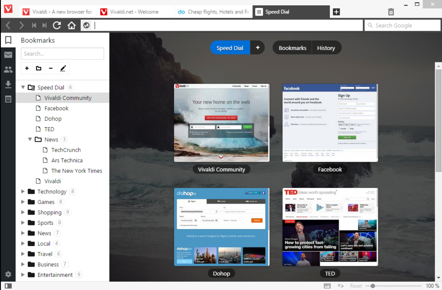 Vivaldi screenshot