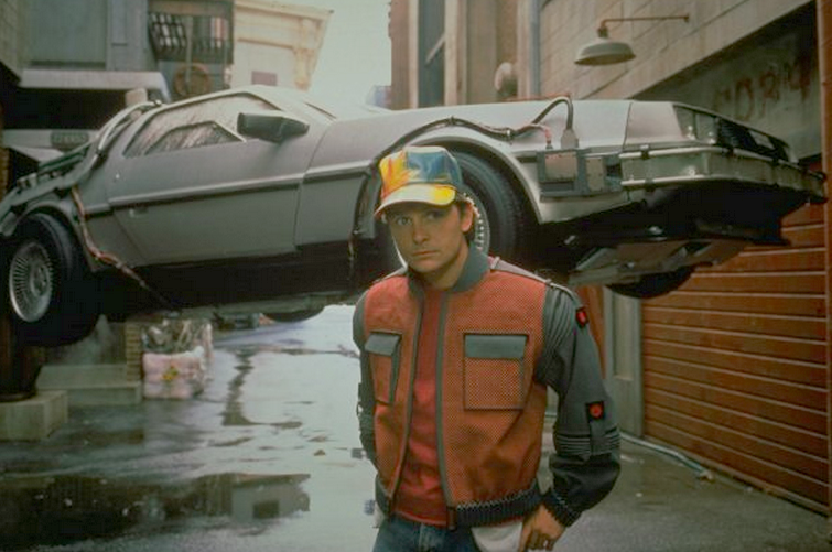 Marty mcfly visits the year 2015 in back to the future part ii the