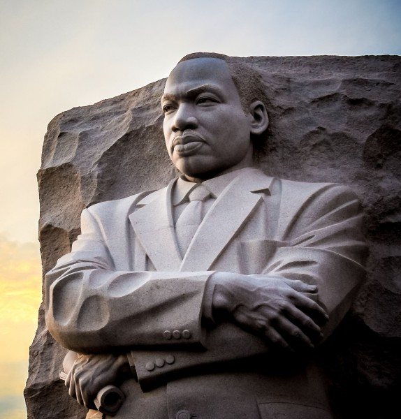Are some of the phrases on the ML King monument plagerized?