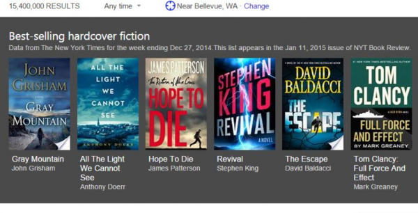 microsoft's bing helps book-lovers find new york times best-sellers