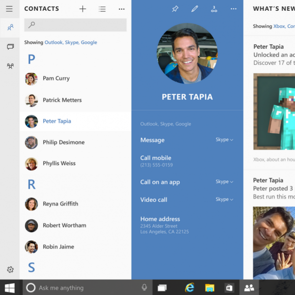 Microsoft's Windows 10 has tight Skype integration — are