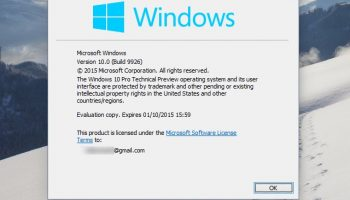 Windows 10 Technical Preview Build 9926 hands on -- making good on earlier promises