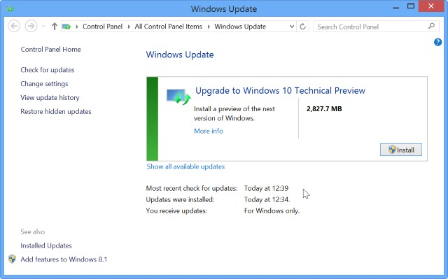 Installing windows 10 through windows update on windows 7 for Windows 10 update