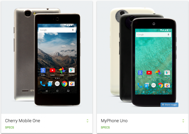 Android One Philippines Cherry One MyPhone Uno