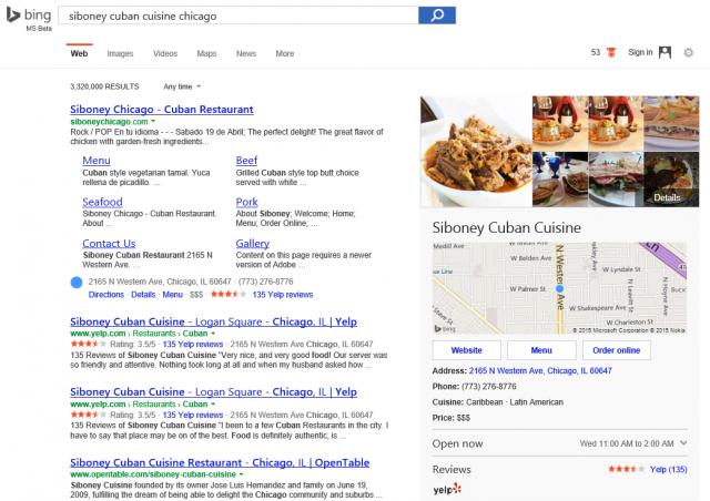 Bing OrderOnlineButton