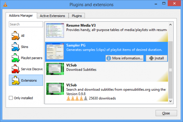 VLC 2 2 0 adds extension manager, resume playback, auto-rotate