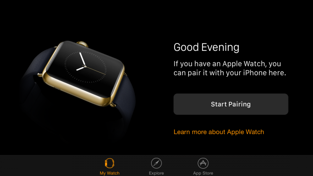 Apple Watch app iOS 8.2