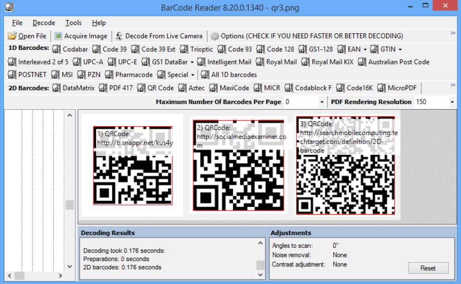 decode qr code android