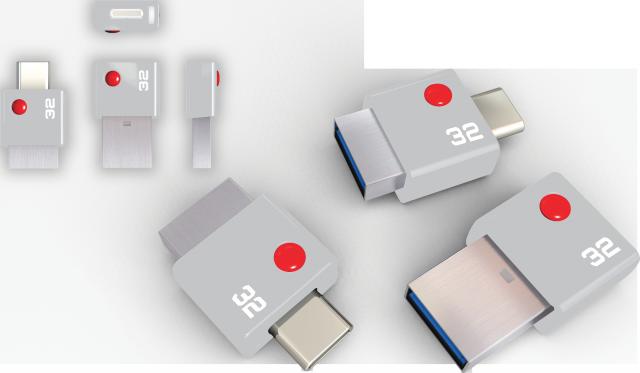 EMTEC Duo USB C - product - 32 GB