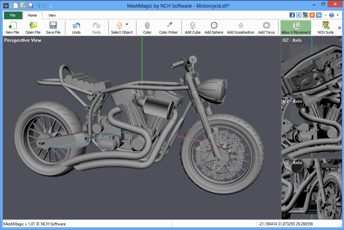 Meshmagic 3d is a simple stl viewer and editor Online 3d design tool