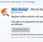 Mozilla Men Kampf Firefox extension