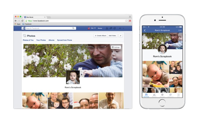 Facebook introduces scrapbooks for photos of your kids