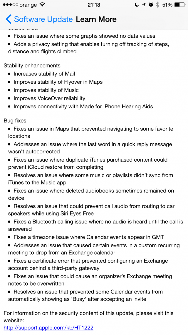 iOS 8.2 changelog 2:2