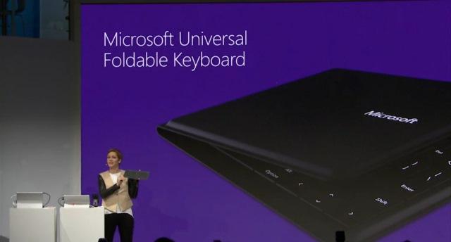 Microsoft Universal Foldable Keyboard liebt iOS, Android und Windows gleichermaßen