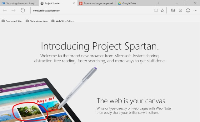 Project Spartan: fat, chunky, and devoid of style and features