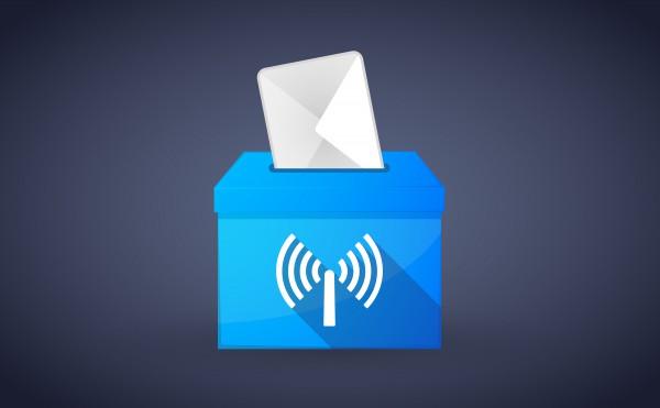 Ballot box wi-fi broadband