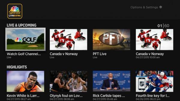 NBC-Sports-Roku-home-screen