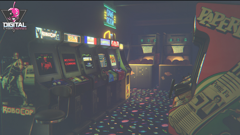 newretroarcade has classic 80s games in a vr arcade