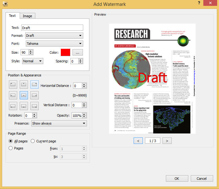 Create, convert, encrypt, annotate, and watermark PDFs with