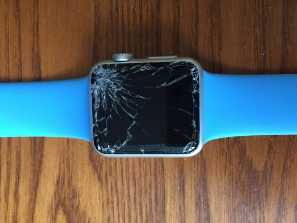 Zerschmetterte Apple Watch