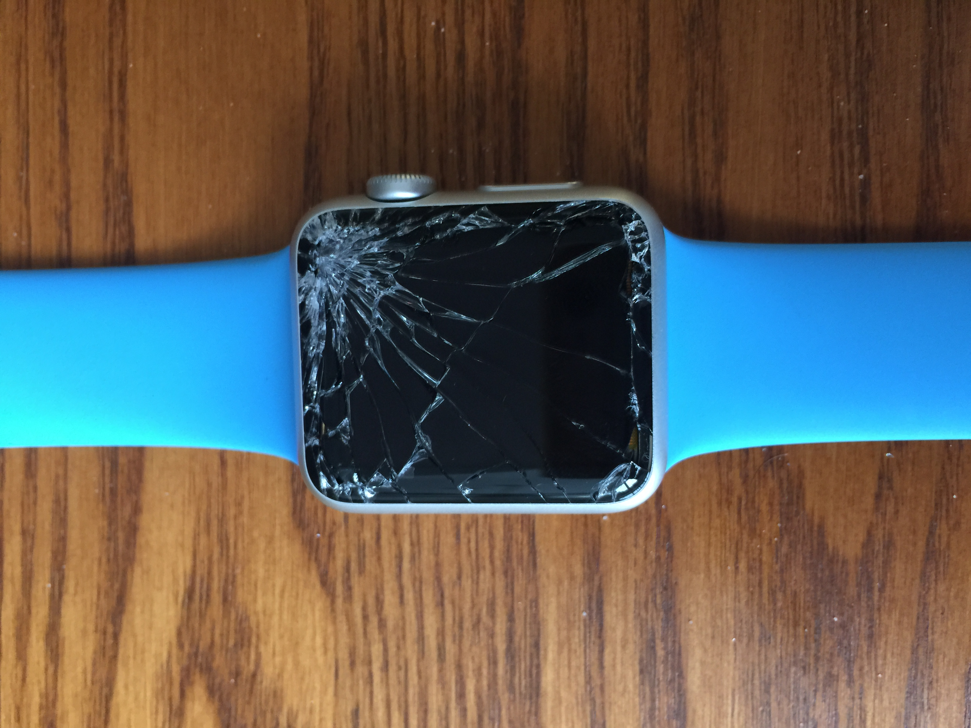 Normal Use Shatters Apple Watch Sport Smart 42mm Shattered