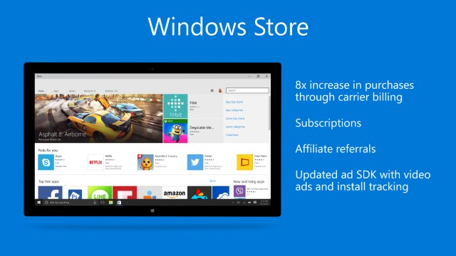 Windows Store to gain subscriptions and phone payments