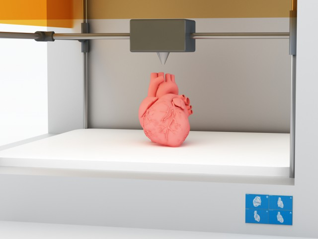 Heart straight out of a 3D printer
