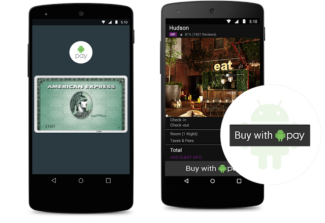 Google shows Android Pay on its Nexus 5 smartphone