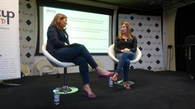 Divinia Knowles and Kimberly Hurd on stage at Google Campus, London
