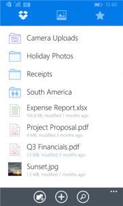 Dropbox for Windows Phone becomes universal app, gets new features