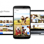 Google Photos shown on Chromebook, Android smartphone and tablet