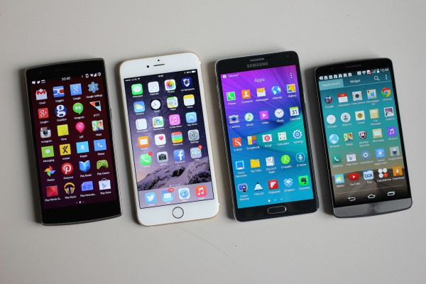 OnePlus One vs LG G3 vs Apple iPhone 6 Plus vs Samsung Galaxy Note 4