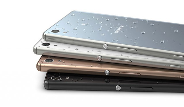 Aqua Green, Black, Copper and White Sony Xperia Z3+ color options