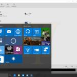 Windows 10 Build 10125 Leak Start screenshot with Alarms app background