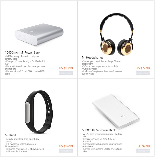 Xiaomi international sale